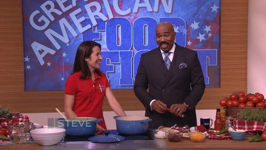 CWC's Maria Papakirk on the Steve Harvey Show