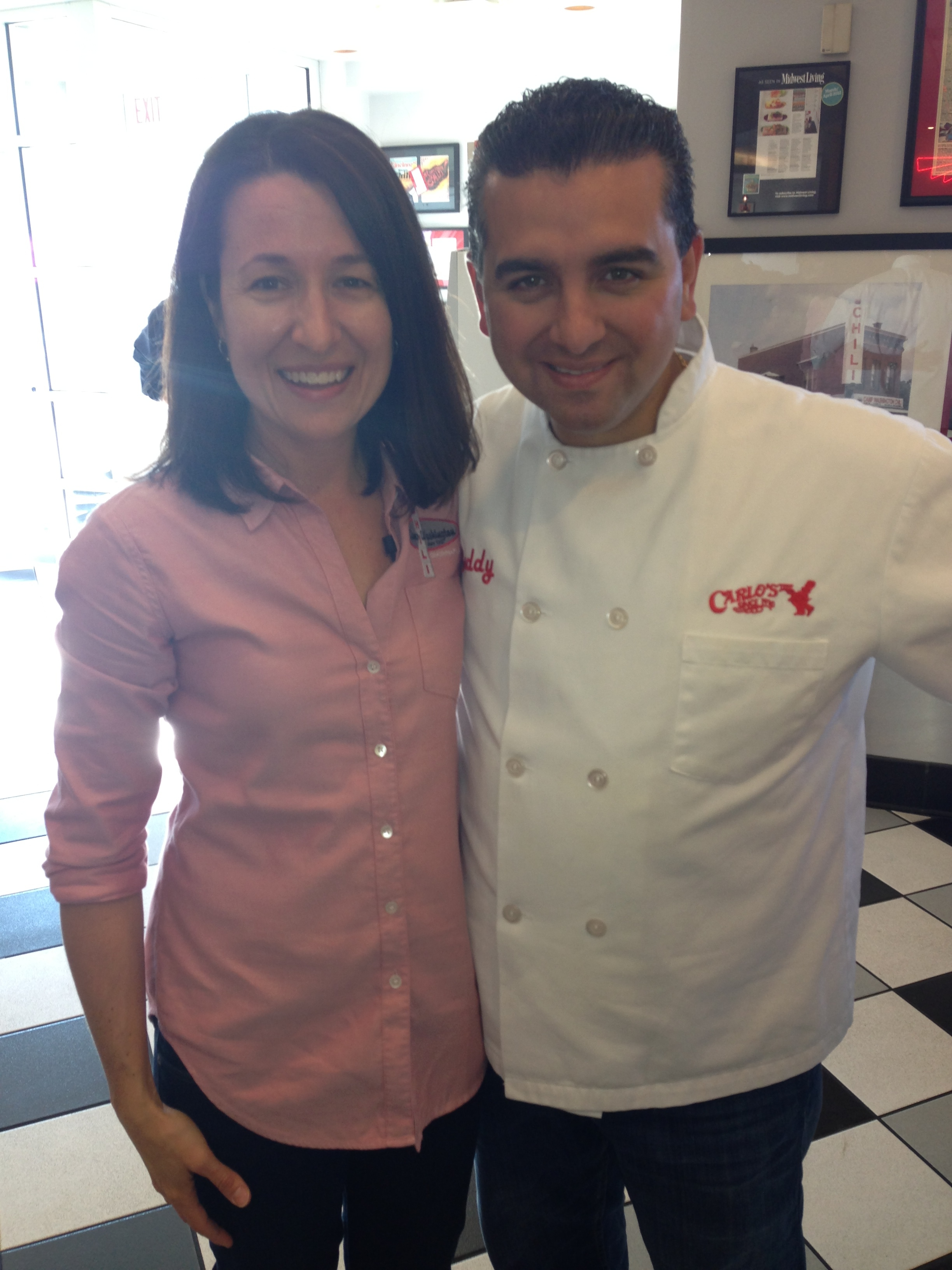 CWC's Maria Papakirk with Buddy 'Cake Boss' Valastro